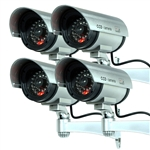 4x Dummy Fake Infrared LED Bullet Surveillance Camera CCTV w/ Red Record Light