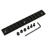 Keymod 13 Slot 5 inch Picatinny Weaver Rail Handguard Section Aluminum