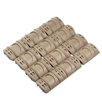 Twelve (12) Tan Universal Picatinny Rubber hand grips for AR/AK quad rails