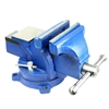 "4"" Heavy Duty Steel Bench Vise with Anvil w/ Swivel Locking Base Table Top Clamp"