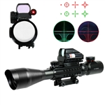 4-12X50 EG Tactical Rifle Scope with Holographic 4 Reticle Sight & Red Lase