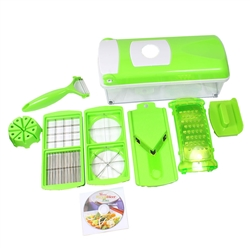 Nicer Dicer Plus Super Slicer w/ 12 PCS Fruit Vegetable Peeler Chopper Grater