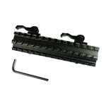 13 Slot Double Rail Quick Detach Picatinny Angle Mount Weaver Rail Scope Mount