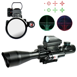 4-12X50 EG Tactical Rifle Scope with Holographic 4 Reticle Sight & Red Laser JG8