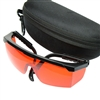 532nm Tinted Laser Safety Glasses Goggles w/ Protective Case + Cleaning Cloth