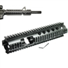 Rifle Carbine Length 3 Piece Extended Quad Rail with Front Sight Extension