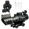 4X32 Tactical Rifle Scope - Tri-Illuminated Chevron Recticle Fiber Optic Sight