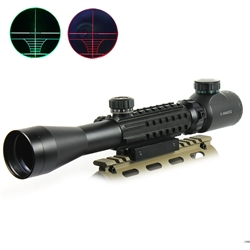 C3-9X40EG Optical Rifle Scope with Mounts & Acc Rails