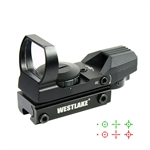 Tactical Holographic Reflex Red Green Dot Sight 4 Reticle w/ 11mm Dovetail Mount