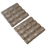 Dark Earth / Tan 24 PCS Universal Weaver Picatinny Rubber Rail Covers Hand Guard