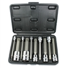 "10PC 4"" Long Spline Socket Bit Set XZN Triple Square 1/4"" 3/8"" 1/2"" Metric Size"