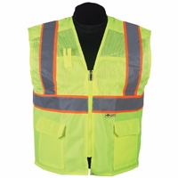 2W International MS330C-2/MS530C-2 Contrast High Viz Vest