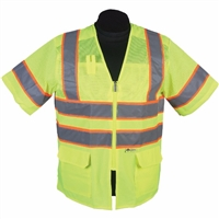 2W International MS339C-3/MS539C-3 Contrast High Viz Vest
