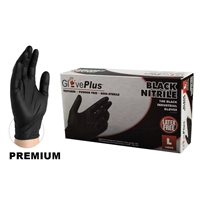 AMMEX GPNB GlovePlus Black Nitrile Gloves
