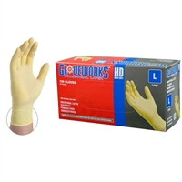 AMMEX ILHD Gloveworks HD Latex Industrial Gloves