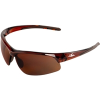 Bullhead 1678 Wahoo Brown Flash Mirror Safety Glasses