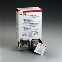 3M 504 No Alcohol Respirator Cleaning Wipes