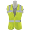 ERB S720 ANSI Class 2 Tricot Ladies Hi-Viz Lime Fitted Vest