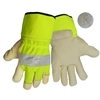 Global Glove 1100PHV Hi-Vis Pigskin Leather Glove