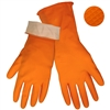 Global Glove 180F Orange Unsupported Latex Gloves
