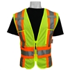 Global Glove GLO-002ADJ ANSI Class 2 Orange Contrast Vest