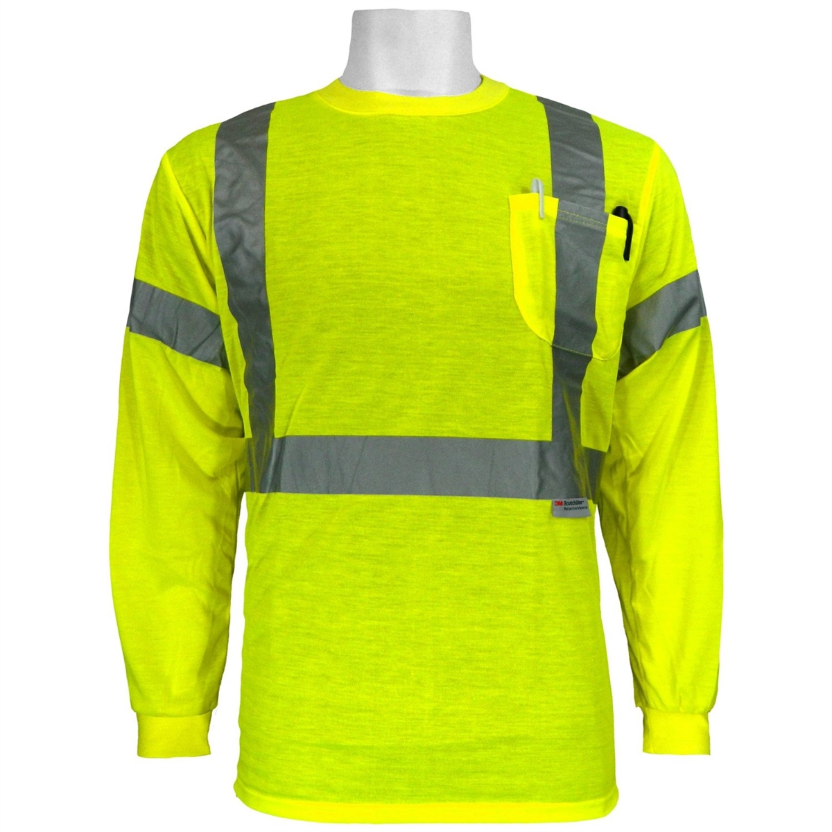 Global Glove Glo 008ls Ansi Class 3 Long Sleeve Shirt