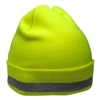 Global Glove GLO-H3 Hi-Vis Lime Winter Stretch Hat