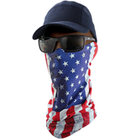 NG-401 - FrogWear - Premium Multi-Function Neck Gaiter, U.S.A. Flag Design