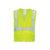 Lime Mesh Reflective Tape Class 2 Vest