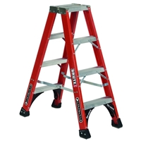 Louisville Ladder FM1400HD Fiberglass Twin Front Step Ladder