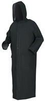 "MCR Safety 267CX2 60"" Black PVC/Poly Raincoat"