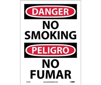 Danger No Smoking Sign-Bilingual