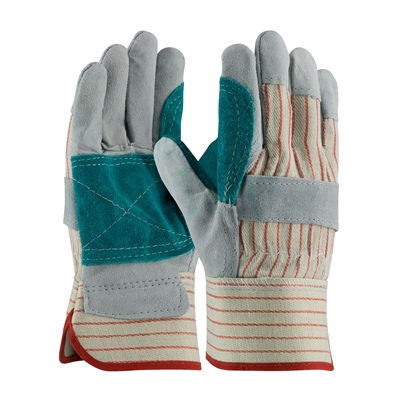 PIP 85-7512J B/C Grade Cowhide Leather Double Palm Gloves