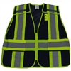 Petra Roc BLVM-PSV ANSI Non-Rated Navy Blue Mesh / Lime Green Contrast Expandable Breakaway Vest