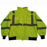 Petra Roc LBJ-C3 ANSI Class 3 Waterproof Bomber Jacket w/ Removable Liner
