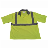 Petra Roc LPSS2 ANSI Class 2 Lime Mesh Short Sleeve polo-shirt