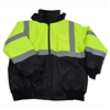 Petra Roc LQBBJ-C3 ANSI/ISEA Lime/Black Class 3 Waterproof Bomber Jacket with Sewn In Quilted Liner