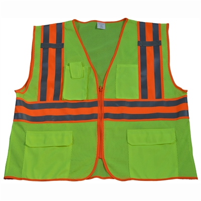 Petra Roc ANSI/ISEA Deluxe Two Tone DOT Class 2 Safety Vest
