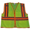 Petra Roc LV2-FSMBCB2 ANSI/ISEA Class II Solid Front Mesh Back Two Tone DOT Surveyors Vest