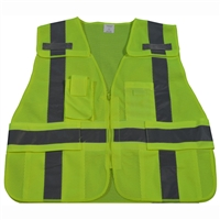 ANSI/ISEA All Lime Expandable 5-Point Breakaway Public Safety Vest