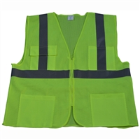 Petra Roc ANSI/ISEA 107-2010 CLASS II 4-Pocket Safety Vests