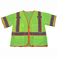 ANSI/ISEA 107-2010 Class 3 Two Tone DOT Surveyors Safety Vest, Deluxe