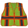 Petra Roc ANSI/ISEA Lime/Orange Two Tone Expandable 5-Point Breakaway Public Safety Vest