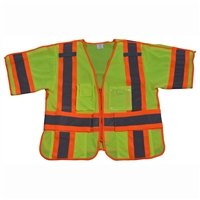 Petra Roc ANSI 107-Class 3 Breakaway Short Sleeve Shirt/Vest , Two Tone Deluxe