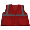 Petra Roc RVM-S1 ANSI Non-Rated Red Mesh Safety Vest for Enhanced Safety & Identification