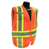 Radians SV23-2ZOM Expandable Two-Tone Vest, Hi-Viz Orange
