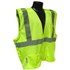Radians SV4G Economy Breakaway Safety Vest, Hi-Viz Green