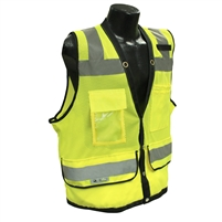 Radians SV59Z-2ZGD Class 2 Heavy Duty Surveyor Safety Vest, High-Viz Green