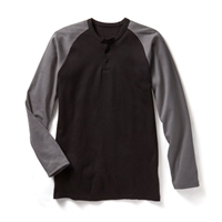 Rasco Flame Resistant Two Tone Henley T Shirt
