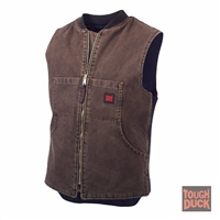 Richlu 19371B Washed Quilt Lined Vest